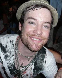 David Cook backstage after the concert.