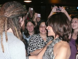 Jason Castro and Paula Abdul greet fans after the show.